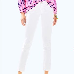 Lilly Pulitzer Worth Skinny Pant - White